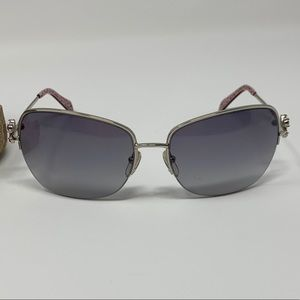 Coach Kylie S334 Silver Sunglasses Pink Butterfly